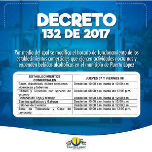 Decreto 132 de 2017