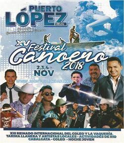 Programación oficial del Festival del Canoero Puerto López 2018